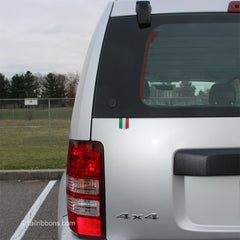jeep liberty with a flag of italy vinyl car sticker