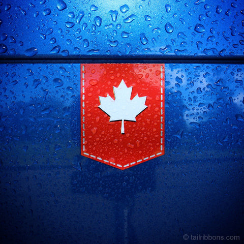"Canada Maple Leaf car sticker - 1 3/8"" x 1 3/4"""