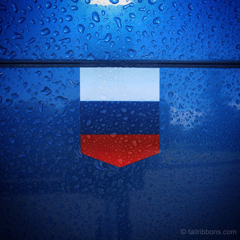 "Flag of Russia car sticker - 1 3/8"" x 1 3/4"""