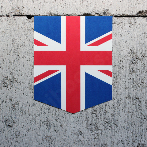"Flag of the United Kingdom car sticker - 2"" x 2.5"""