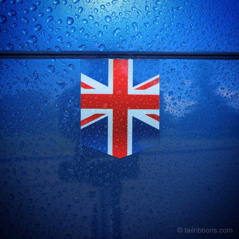 "Flag of the United Kingdom car sticker - 1 3/8"" x 1 3/4"""