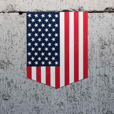 "Flag of the USA car sticker - 2"" x 2.5"""