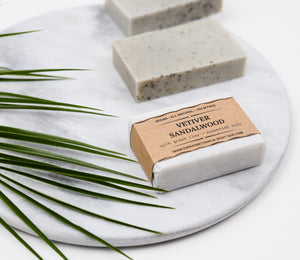 Sandalwood Vetiver soap with green clay