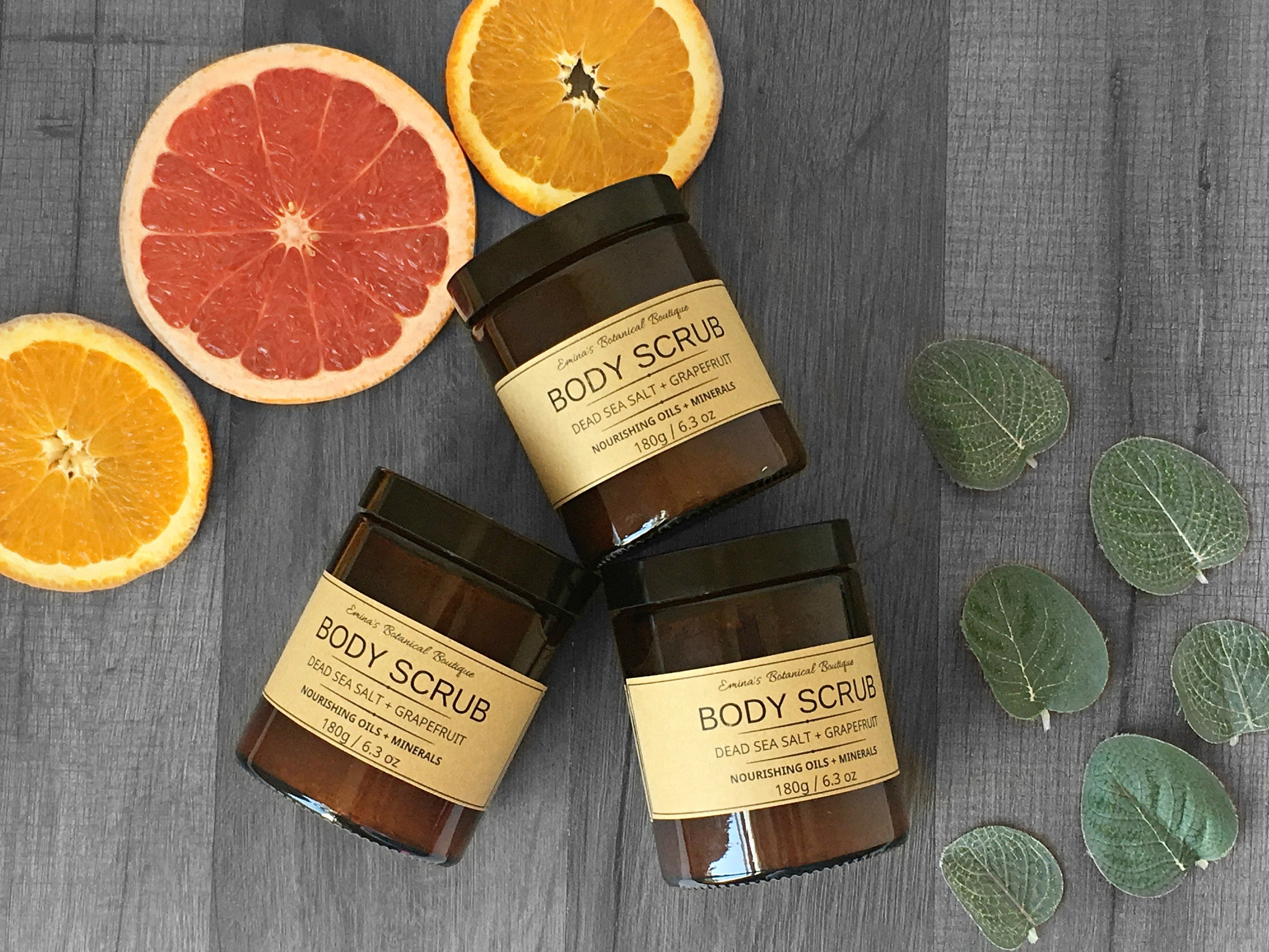 Mineral Body Scrub with Grapefruit and Orange