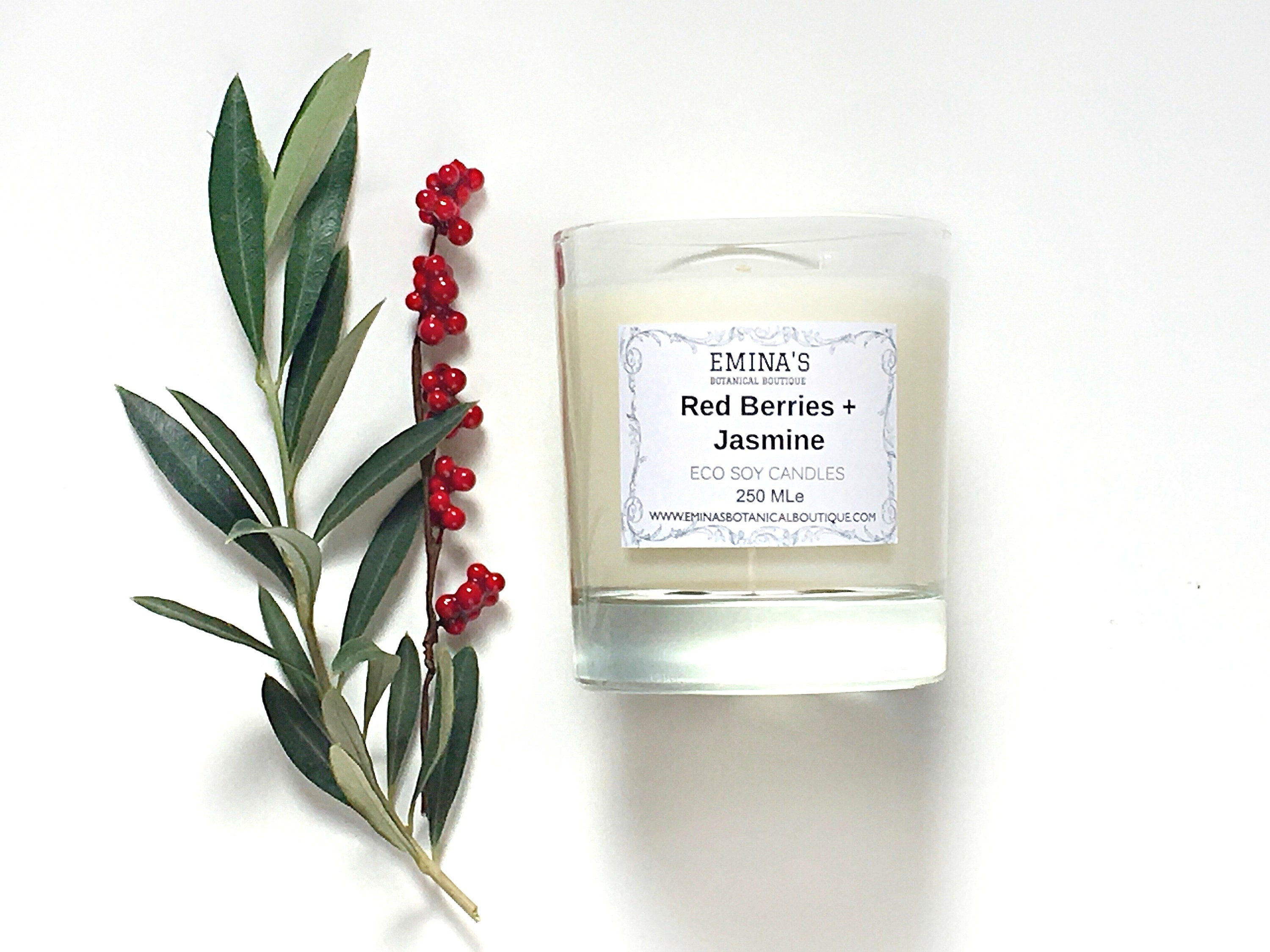 Red Berries Eco Soy Candle