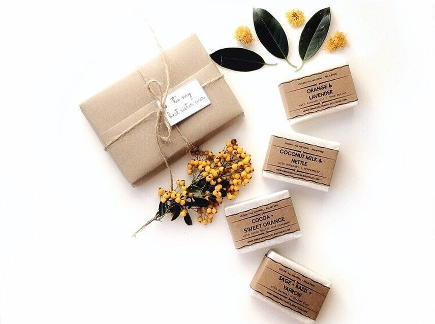 6 Personalised Vegan Soap Gift Set