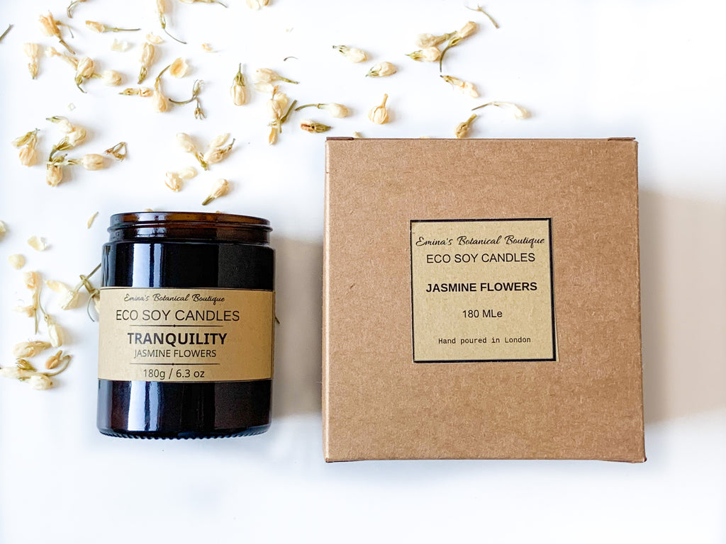 Jasmine Flowers Soy Candle