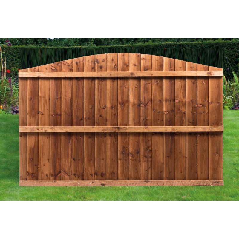 Arch Top Pressure Treated Feather Edge Timber Fence Panels