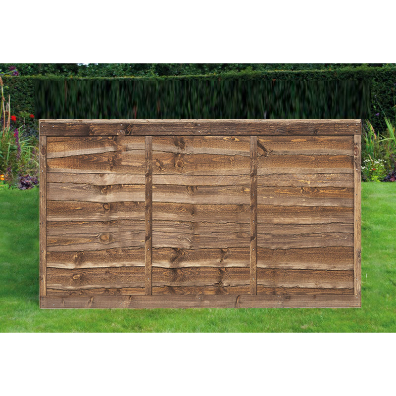6ft x 4ft Overlap Timber Fence Panel