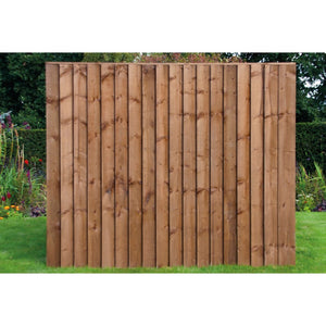6ft x 5ft Pressure Treated Timber Feather Edge Fence Panels #