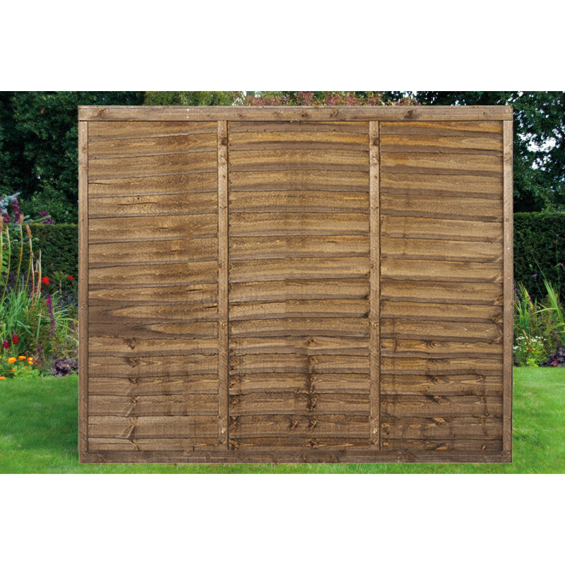 6ft x 5ft Overlap Timber Fence Panel
