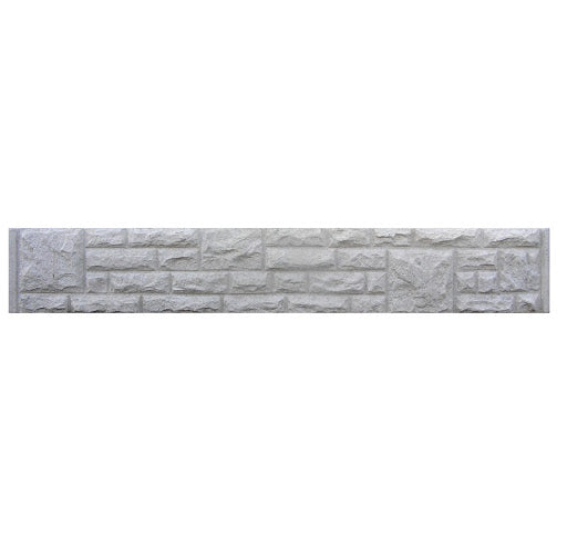 Rock Faced Concrete Gravel Boards 12"