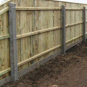 Concrete Recessed Fence Post 2|3 Rails