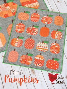 Mini Pumpkins Paper Pattern