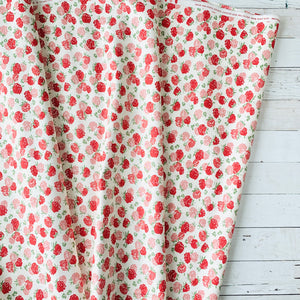 5 Yard Backing - At Home Red & Pink Floral
