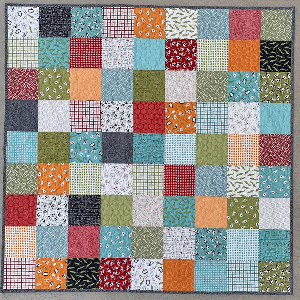 Patchwork Baby Quilt Kit - Animal Crackers