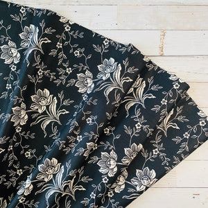 5 Yard Backing - All Hallow's Eve Midnight Floral