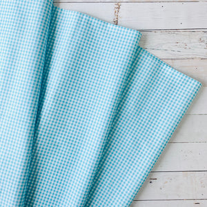 5 Yard Backing - Aqua Gingham
