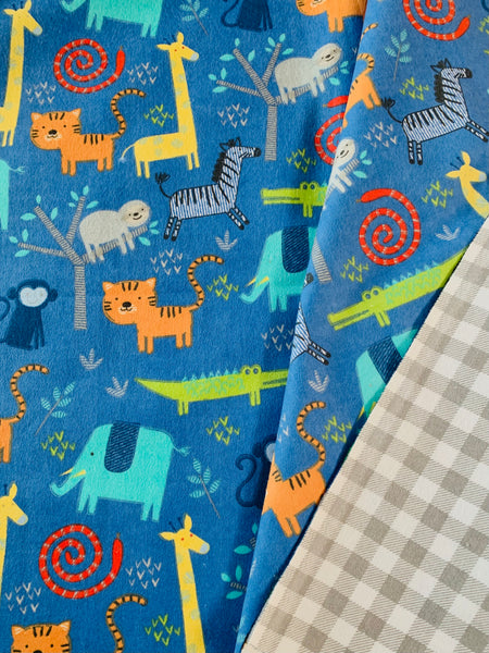 Whole Cloth Baby Quilt Kit - Flannel Jungle Animals