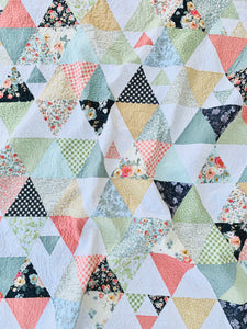 Gingham Triangles Quilt Kit