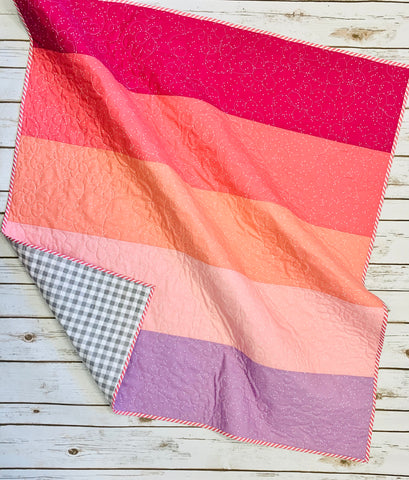 Ombré Baby Quilt Kit - Pink