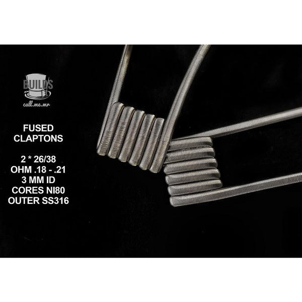 HANDMADE FUSED CLAPTONS 2/PC