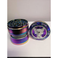 "GRINDER 2.5"" ELEPHANT 4 PEICE METAL WITH GLASS WINDOW"