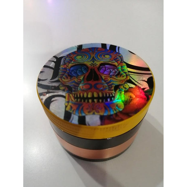 "GRINDER METAL 4 PC 2"" SKULLZ"