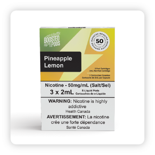 BOOSTED PODS PINEAPPLE LEMON (STLTH COMPATIBLE)