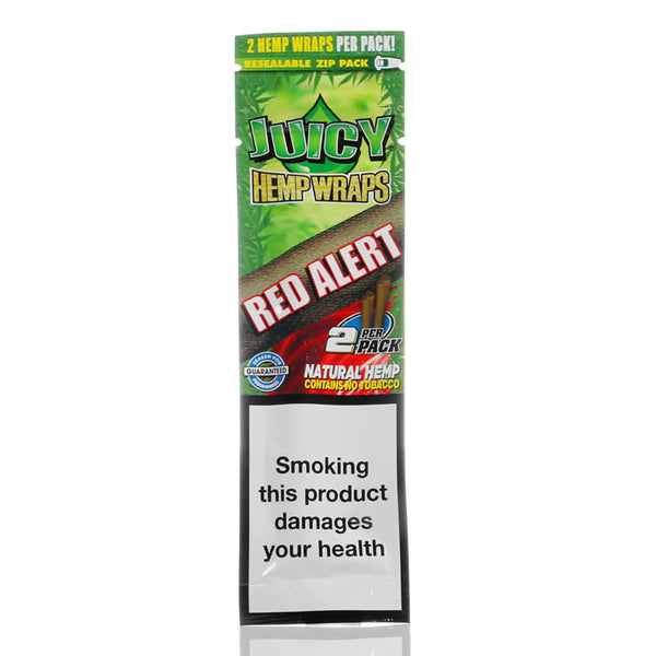 JUICY HEMP WRAPS RED ALERT 2/PK