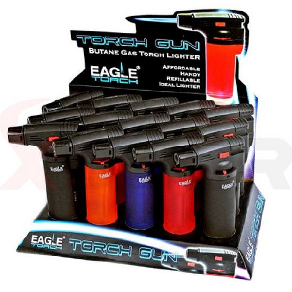 REFILLABLE EAGLE TORCH LIGHTER (ASSORTED COLORS)