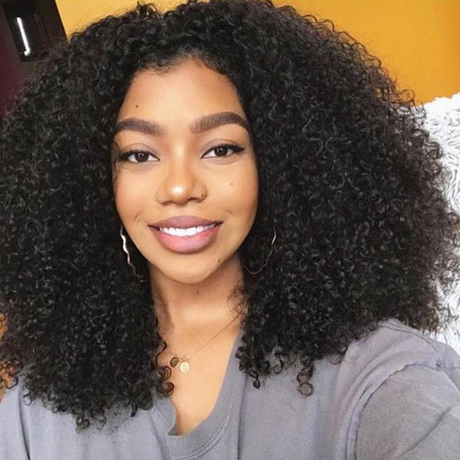 Real Peruvian Remy Human Hair Wigs Natural Kinky Curly