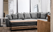Load image into Gallery viewer, modular linen sofa, Grey, standing mirrors