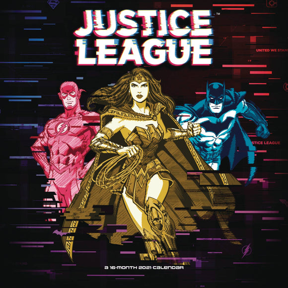 JUSTICE LEAGUE CLASSIC 2021 WALL CALENDAR