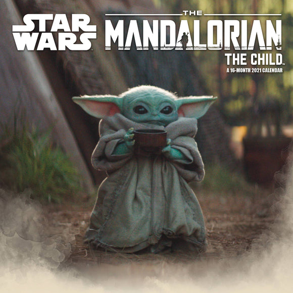 STAR WARS MANDALORIAN THE CHILD 2021 WALL CAL