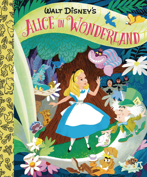 WALT DISNEYS ALICE IN WONDERLAND LITTLE GOLDEN BOARD BOOK