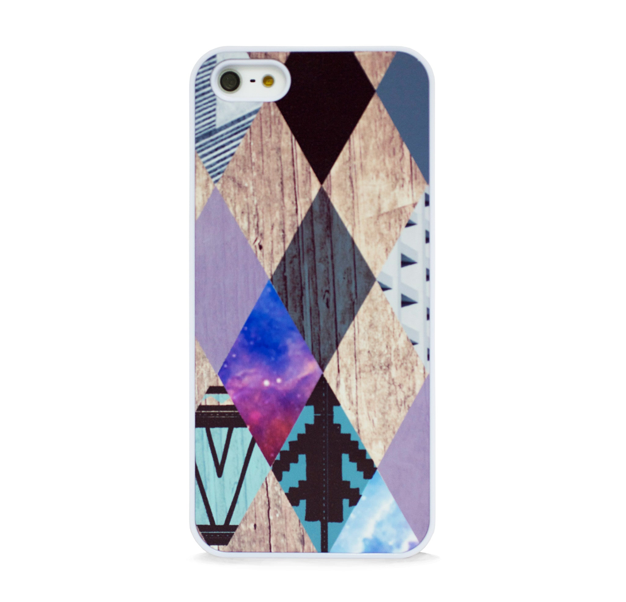 AZTEC MULTI ARGYLE WOOD IPHONE 5/5S CASE