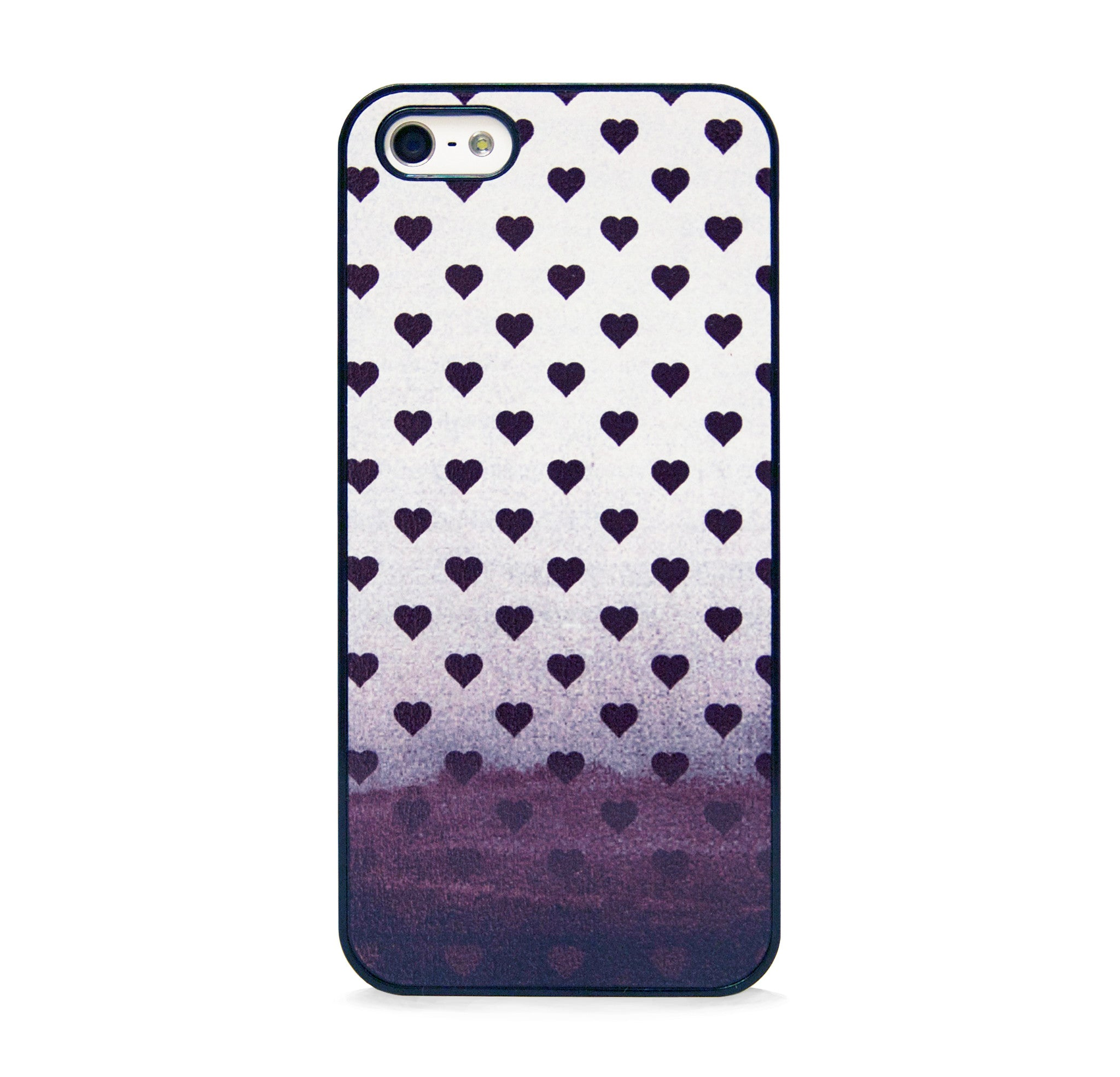 POLKA HEART BLACK FOR IPHONE 5/5S