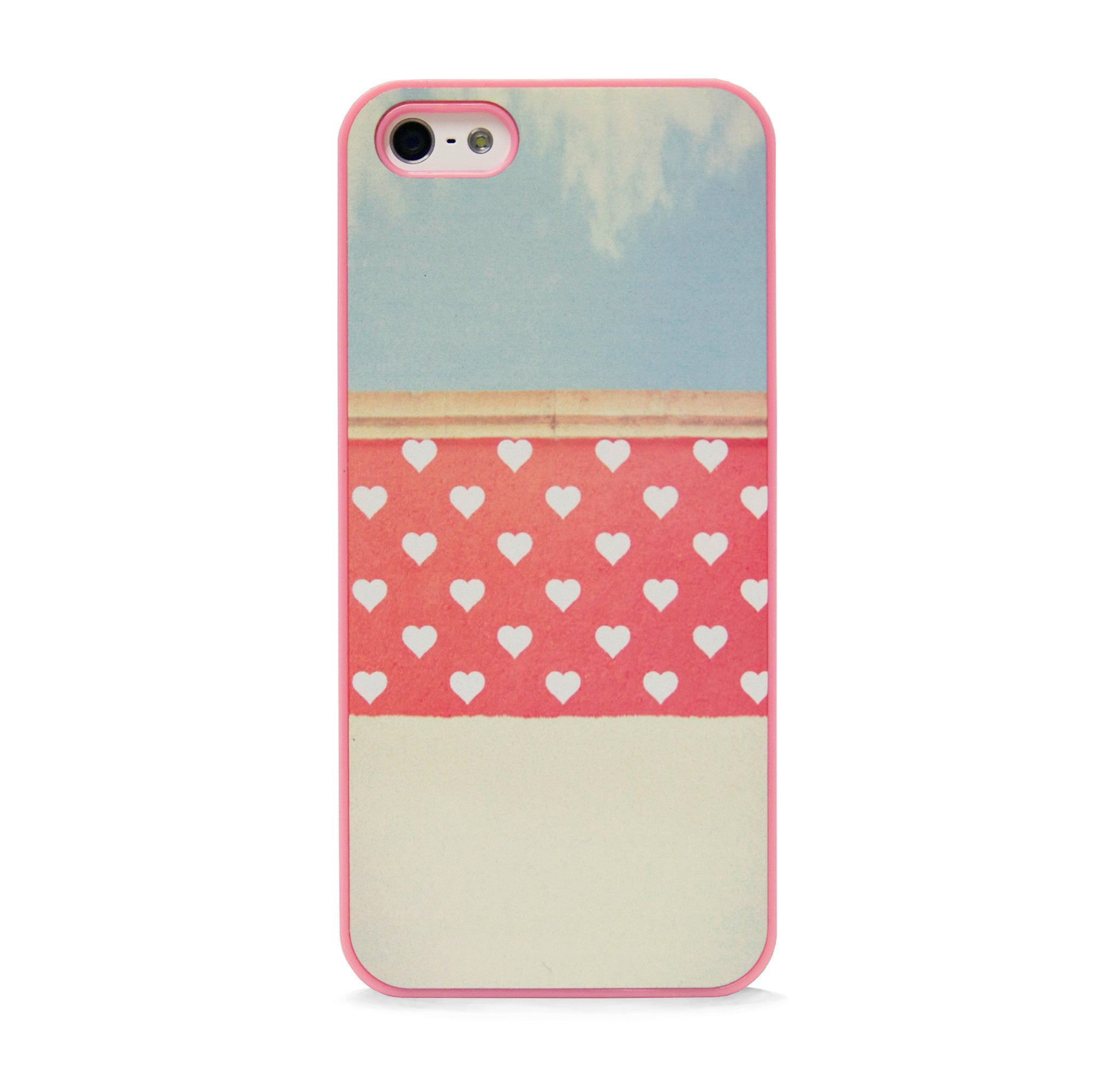 POLKA HEART ORANGE FOR IPHONE 5/5S