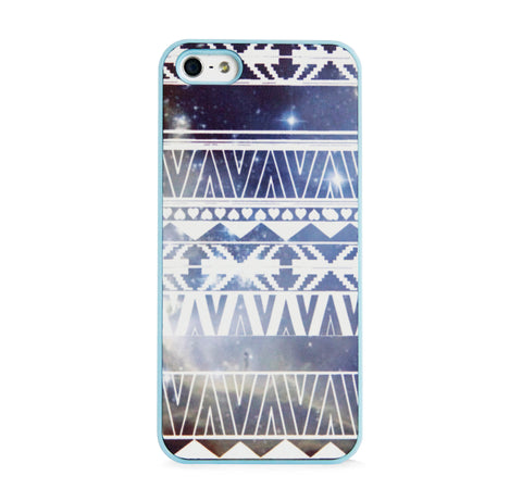 AZTEC ON GALAXY BLUE IPHONE 5/5S CASE
