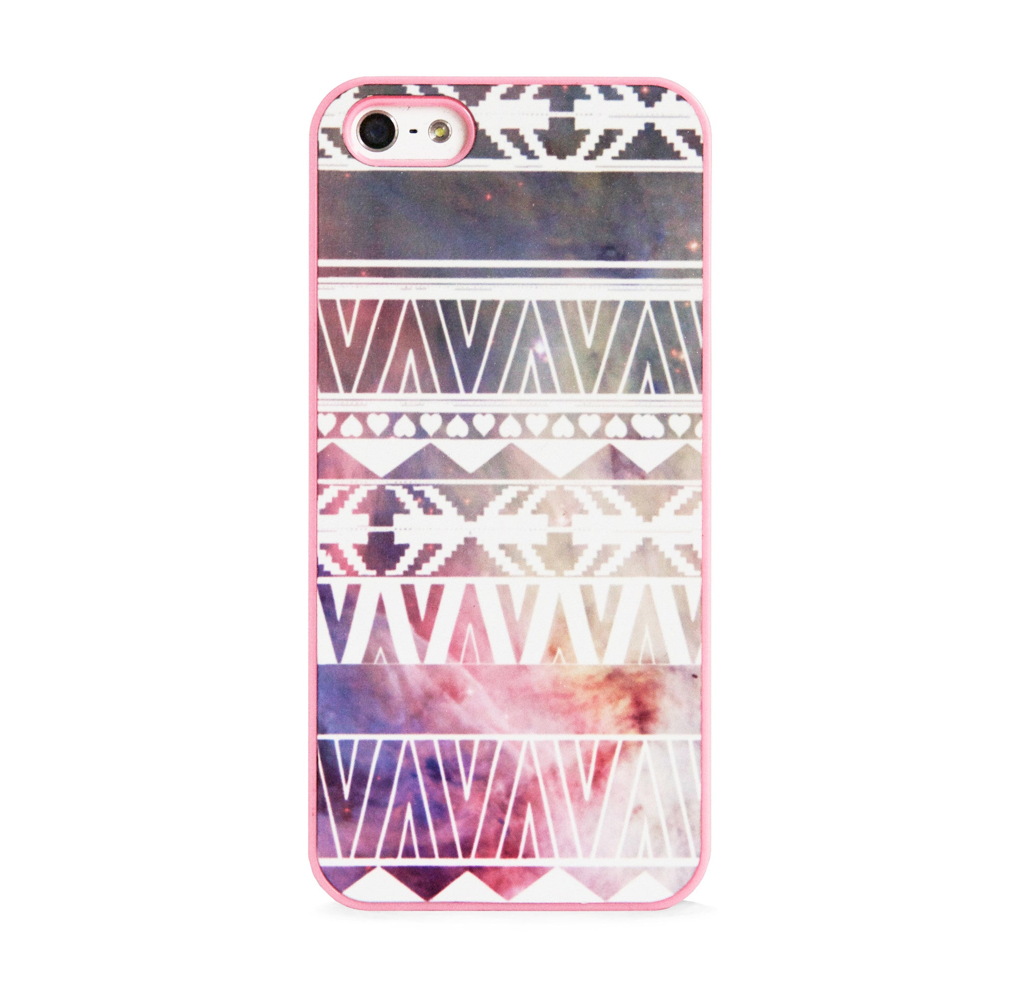 AZTEC ON PINK GALAXY IPHONE 5/5S CASE