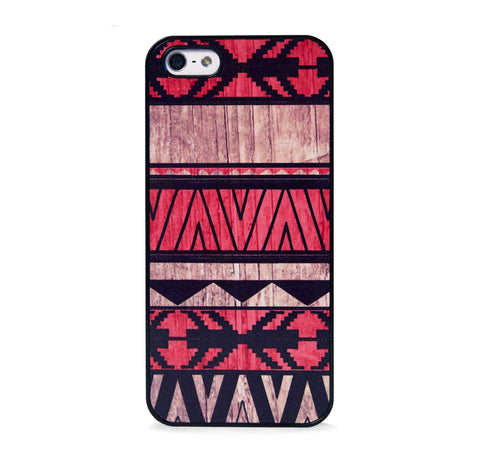 AZTEC GEO RED WOOD PRINT IPHONE 5/5S CASE