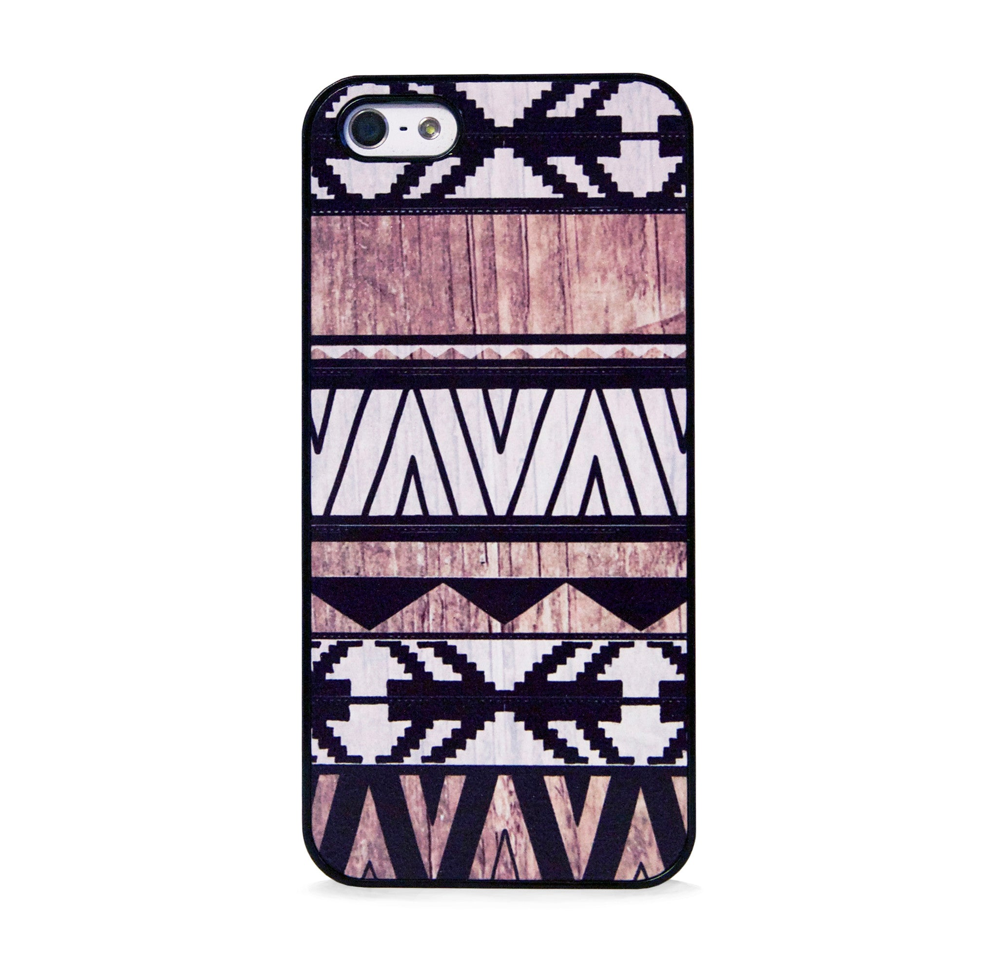 AZTEC GEO WHITE WOOD PRINT IPHONE 5/5S CASE