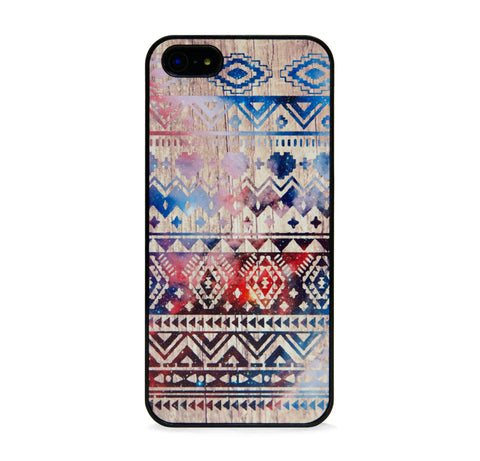 AZTEC SPACE ON WOOD FOR IPHONE 5/5S, IPHONE SE