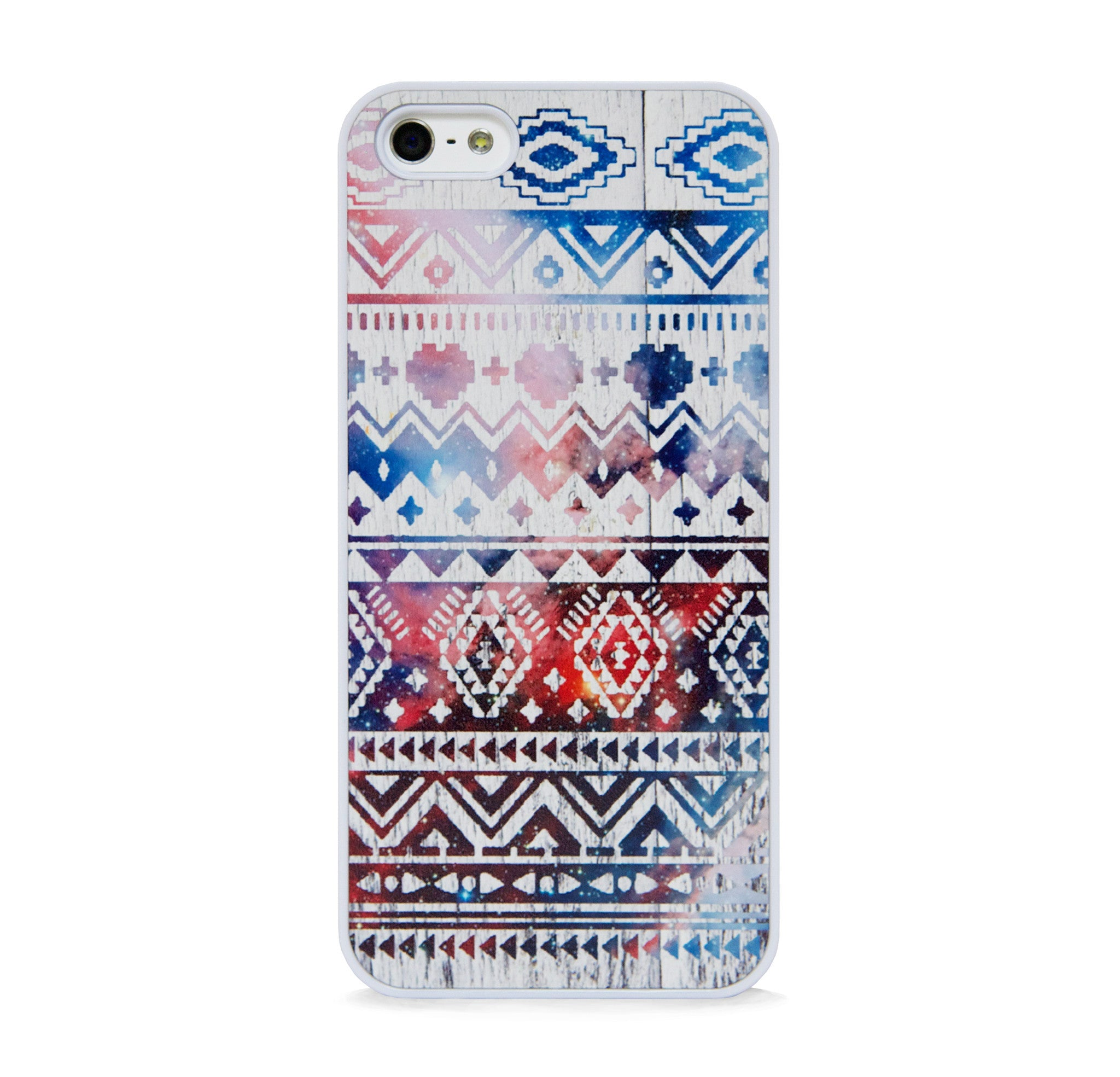 AZTEC SPACE ON WHT WOOD FOR IPHONE 5/5S, IPHONE SE