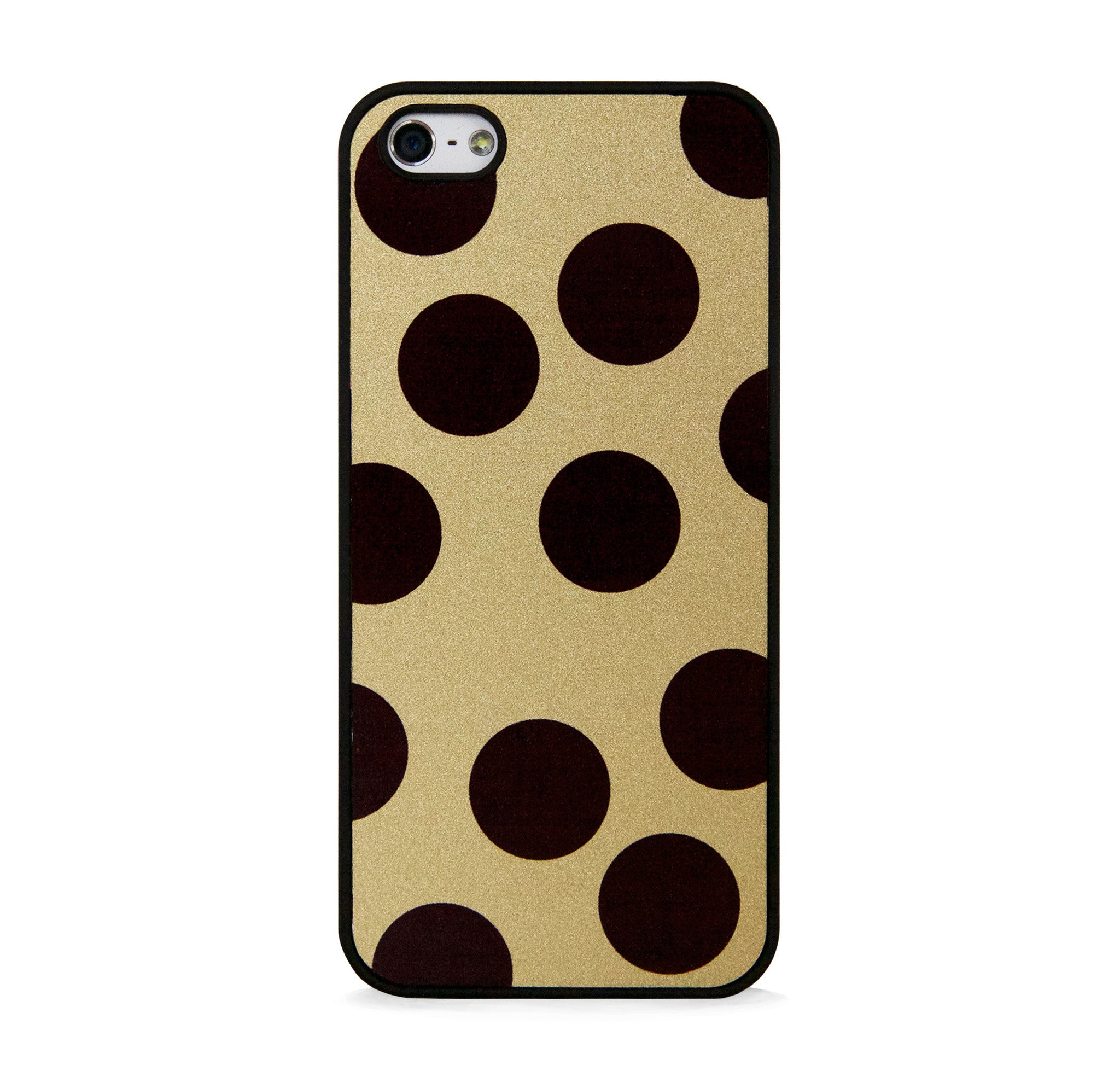 BIG POLKA DOTS ON GOLD FOR IPHONE 5/5S, IPHONE SE