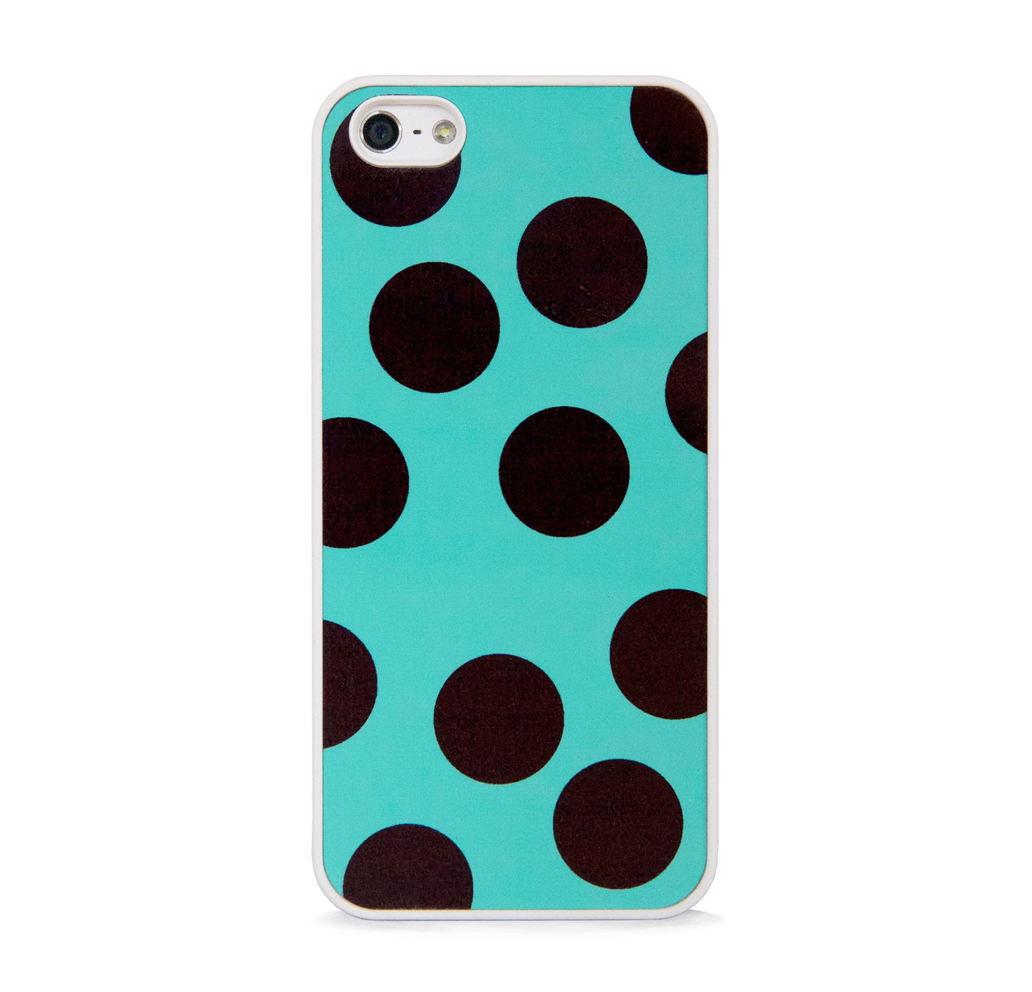 BIG POLKA DOTS ON MINT FOR IPHONE 5/5S