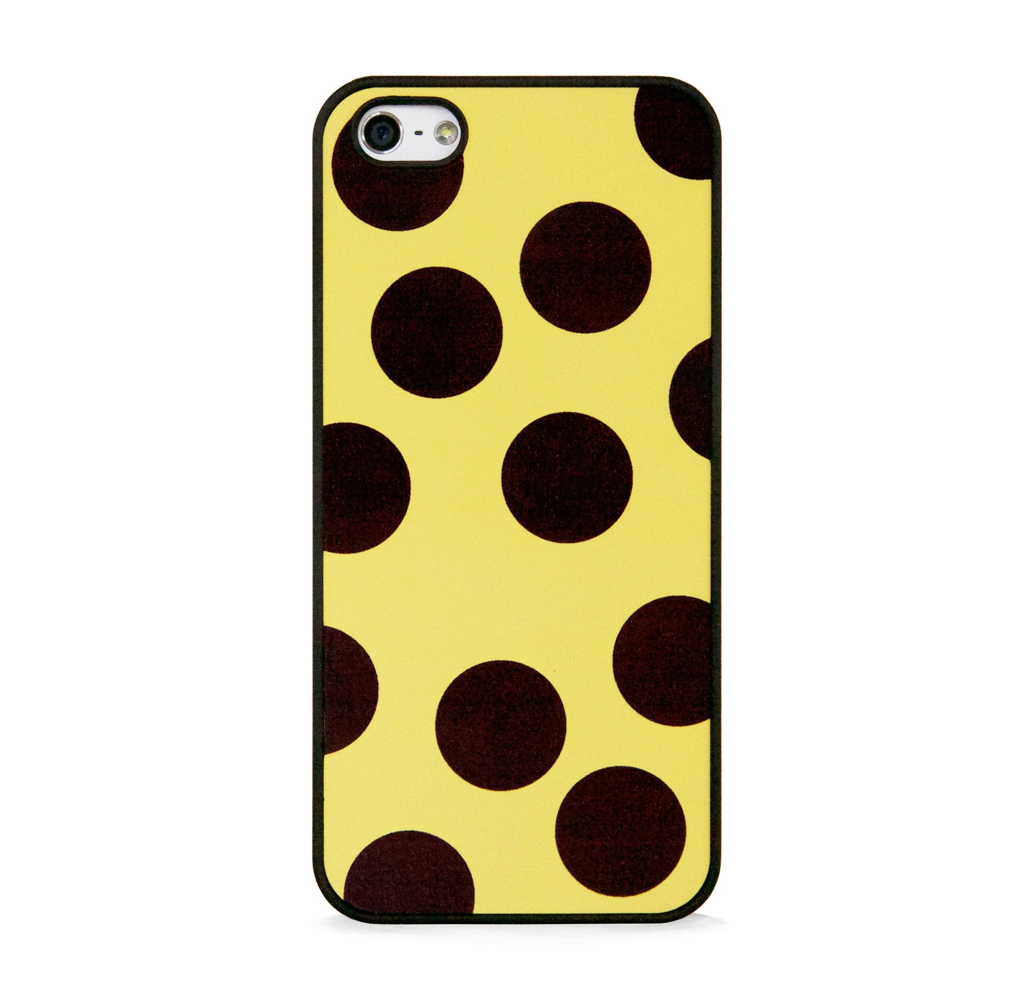 BIG POLKA DOTS ON YELLOW FOR IPHONE 5/5S, IPHONE SE