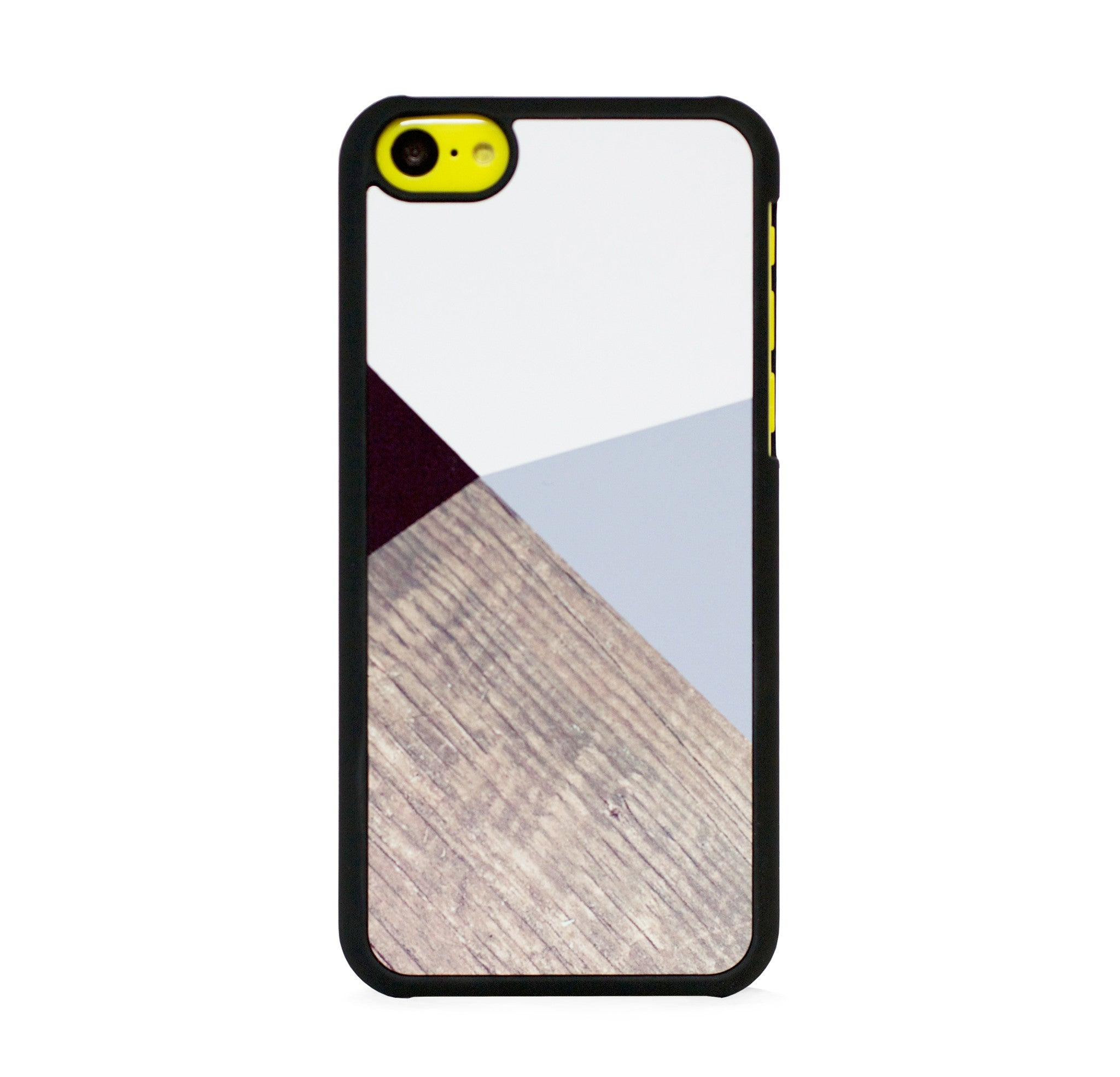 COLOR BLOCK GREY ON WOOD PRINT FOR IPHONE 5C