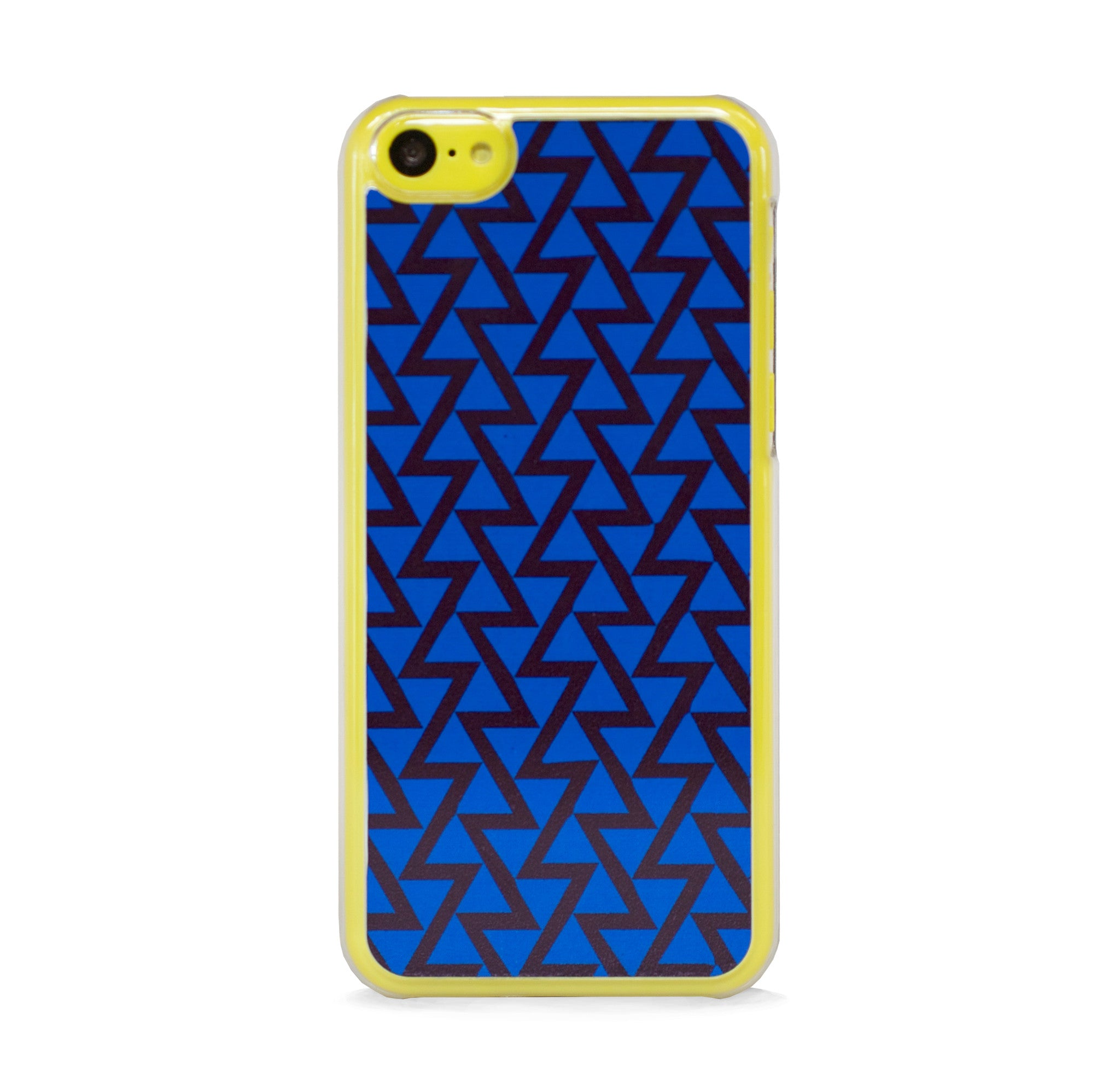 TRIANGLE COLOR BLOCK BLUE FOR IPHONE 5C